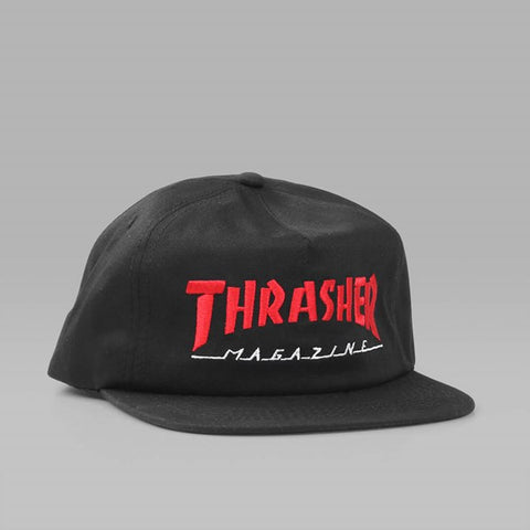 Thrasher two tone log magazine cap black
