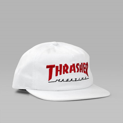 Thrasher two tone log magazine cap White