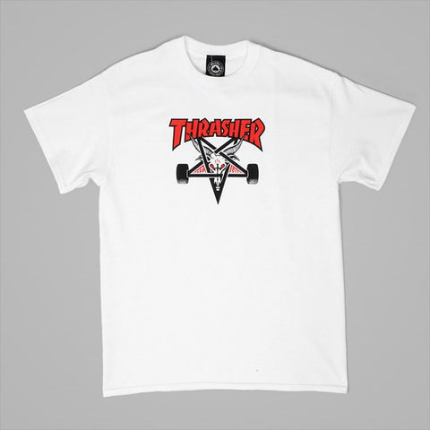 Thrasher Skategoat S/S tee White/Red