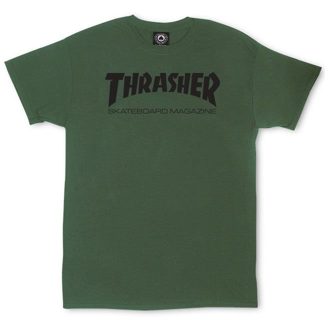 Thrasher Sk8 Mag S/S Tee Army