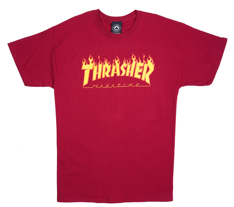 Thrasher Flame S/S Tee Red