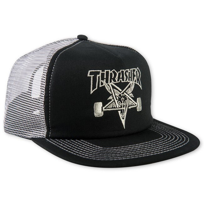 Thrasher Embroidered Thrasher Skategoat Mesh Cap - Gray