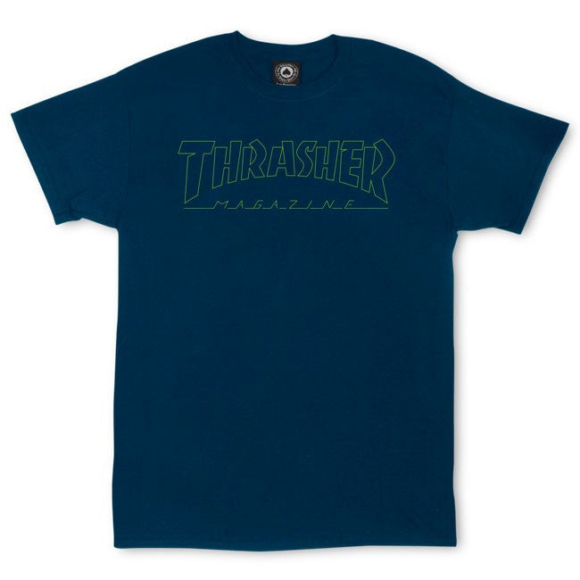 Thrasher  Circuit Goat T-Shirt - Navy