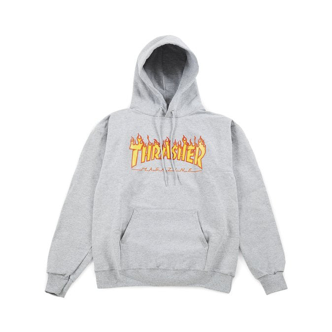 THRASHER  FLAME HOODY  Grey