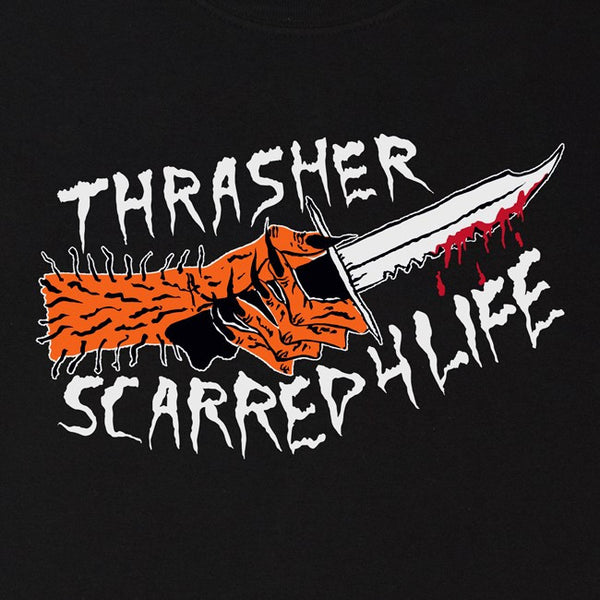 Thrasher Scarred Tee - Black