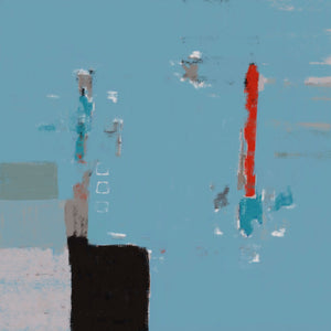 Lighthouse of My Dreamscape - Tableau abstrait  artiste peintre Octave Pixel  galerie TACT Art abstrait & contemporain