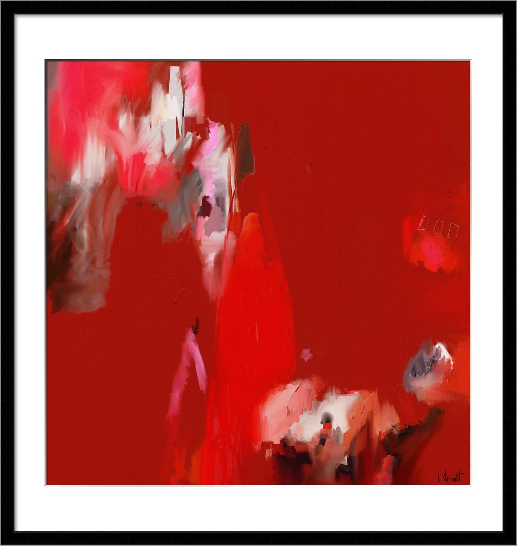 Provence - tableau abstrait rouge ocre - galerie TACT ://
