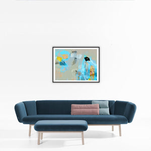Blue flight - Art prints - Artwork  artiste peintre Octave Pixel  galerie TACT Art abstrait & contemporain