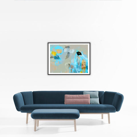 Blue flight - Art prints - Artwork  artiste peintre Octave Pixel  galerie TACT :// Art abstrait & contemporain