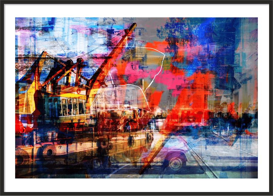 Fire colors - Art prints - Artwork  artiste Marc Doulat  galerie TACT Art abstrait & contemporain