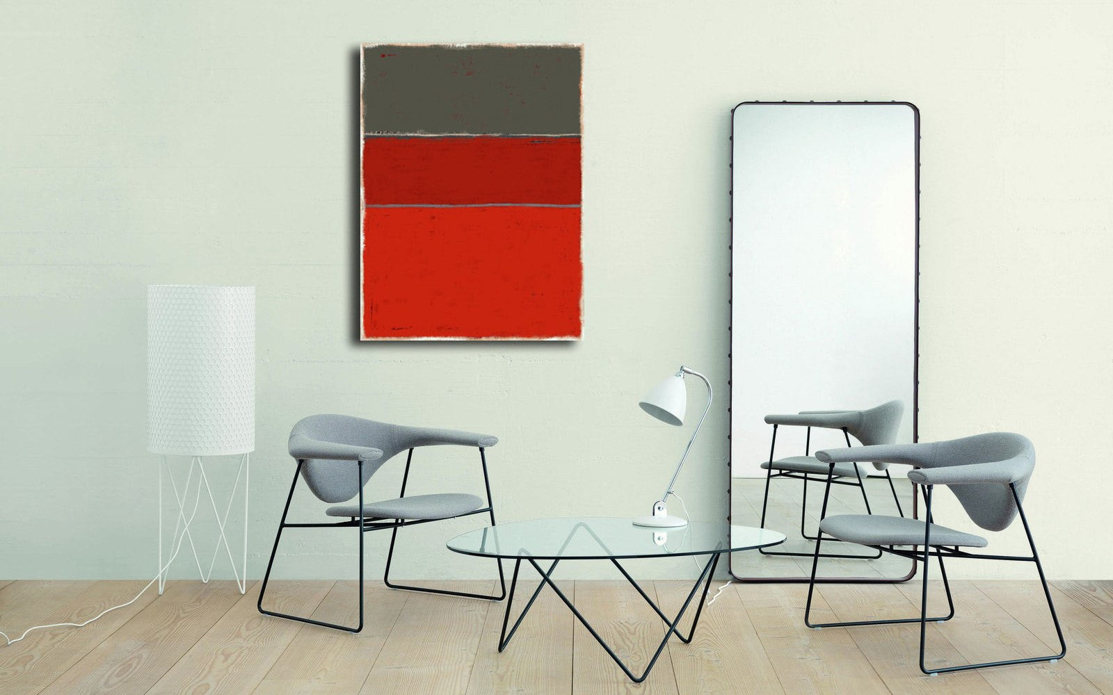 Inspiration Rothko - Tableau design  artiste peintre Ludwig Mario  galerie TACT Art abstrait & contemporain