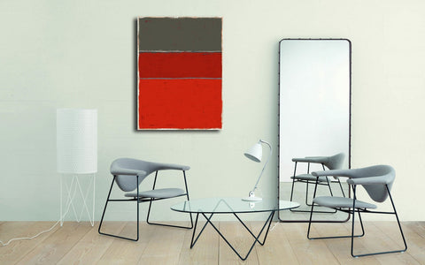 Inspiration Rothko - Tableau design  artiste peintre Ludwig Mario  galerie TACT :// Art abstrait & contemporain