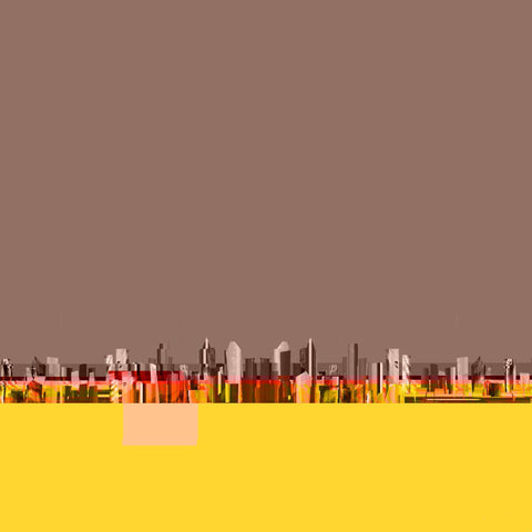 New-York, - Tableaux design 40x40cm  artiste Victor Maillat  galerie TACT ://