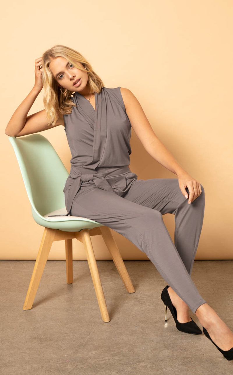 The Stella Jumpsuit - Charcoal
