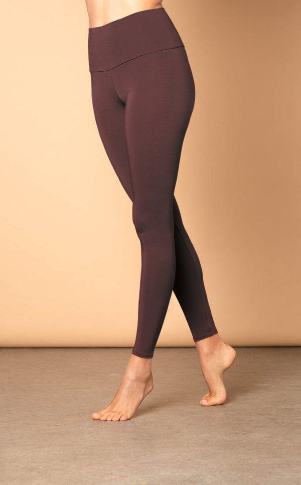 The High Waisted Leggings - Chocolate