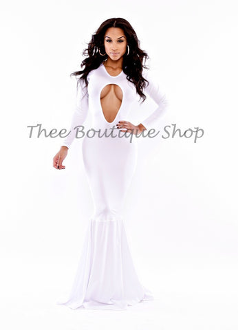 The Angel Allure Mermaid Body-Con Dress