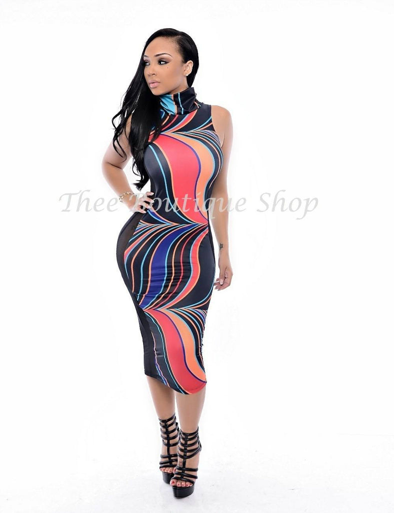 The Afrique Tribal Illusions Dress - Thee Boutique Shop