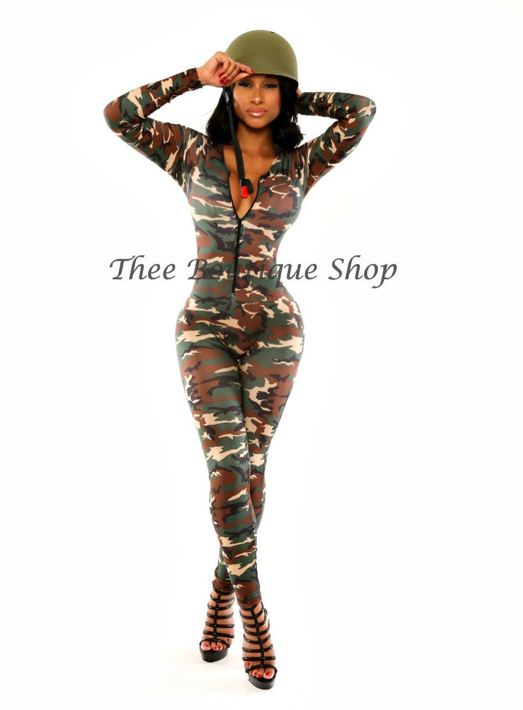 The Army Soldier Catsuit - Thee Boutique Shop