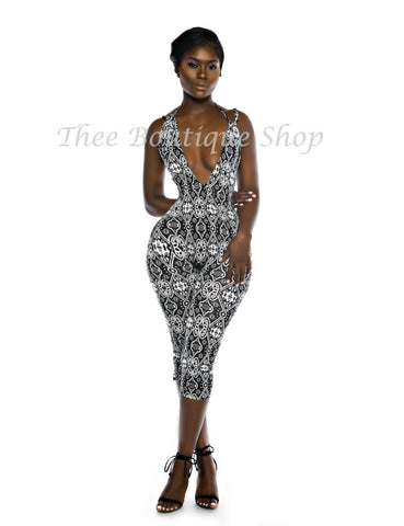 The Noir Tribal Indulgent Halter Jumpsuit