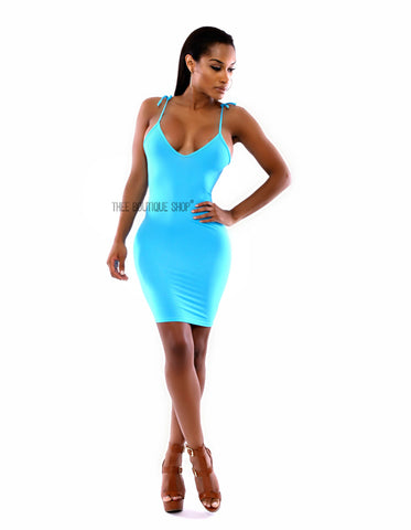 The Eclectic Blue La Mode Body-Con Dress