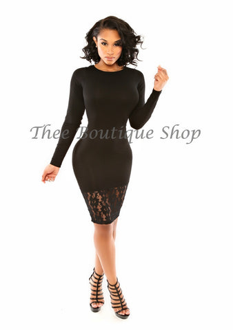 The Noir Classic Fusions Dress