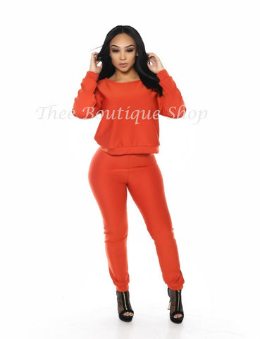 The Classic Fall Joggers Set (Burnt Orange)