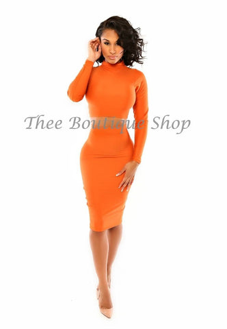 The Classic Turtle Neck Set (Orange)