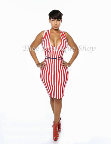 The Patriotic Indulgent Halter Dress