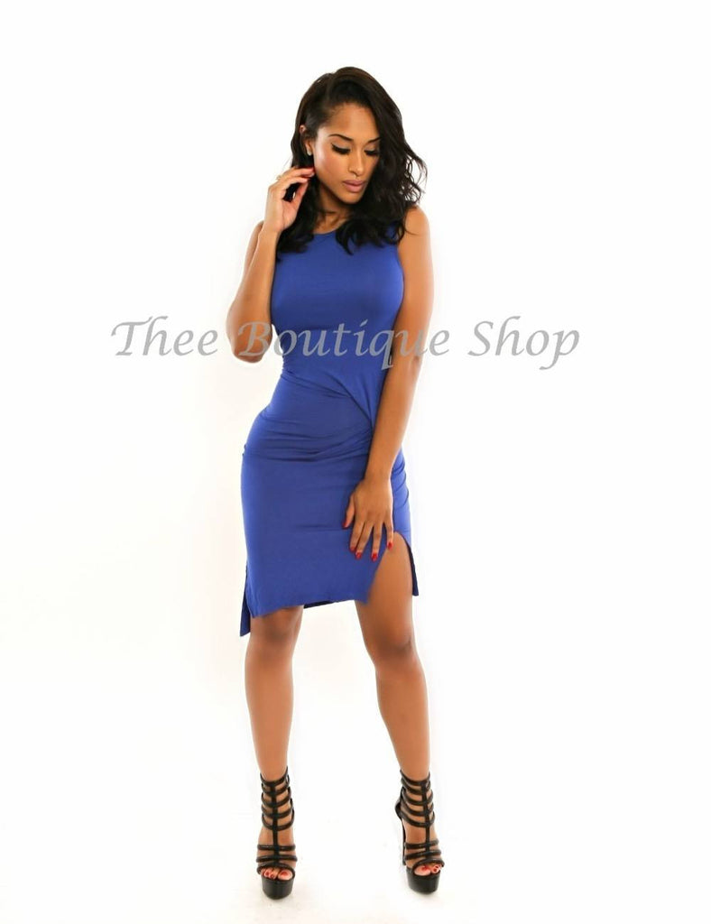 The Kelly Blue Wave Body Con Dress