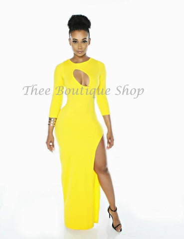 The Elixir Maxi Dress (Yellow)