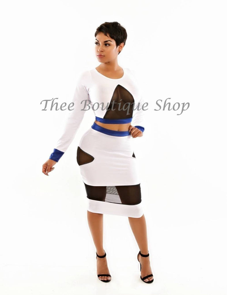 The Opulent Color-Block Set (Blue)