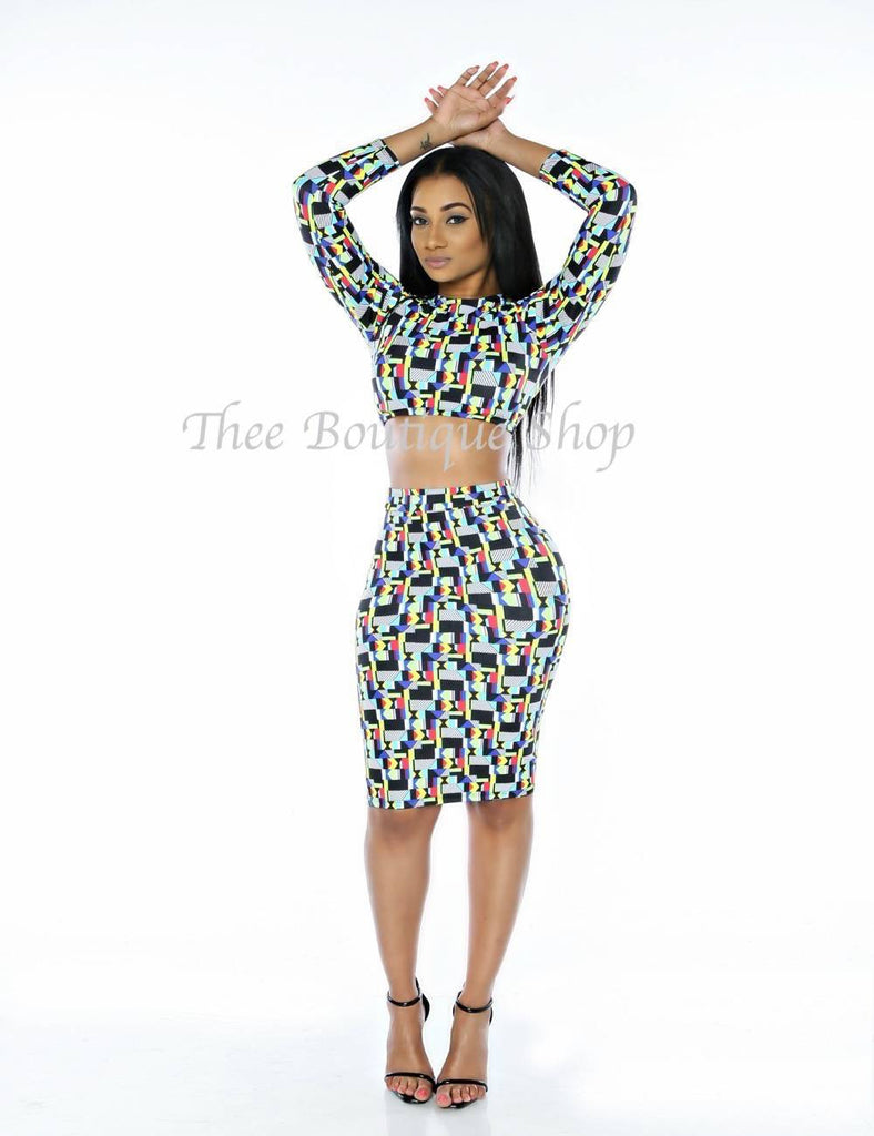 The 80s Tribal Crop Set - Thee Boutique Shop