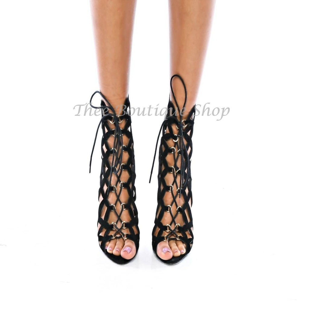 The Malia- Laser Cut Booties