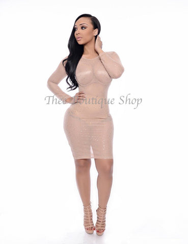 The Hollywood Classic Illusions Dress (Nude)