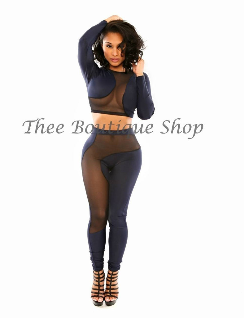 The Kanvas Illusions Leggings Set (Navy)