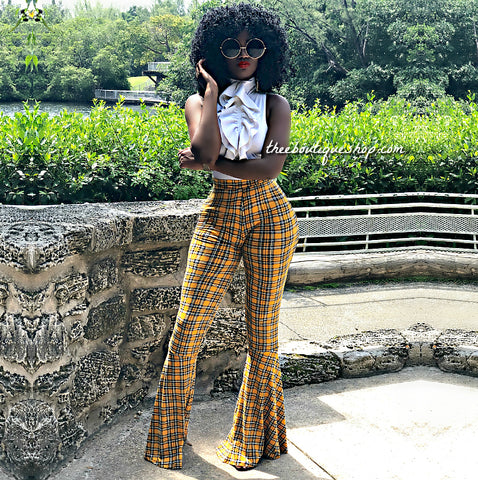 The London Plaid Flare Pants Set