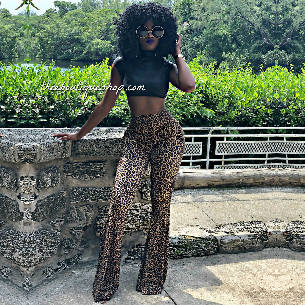 The Cambodia Leopard Flare Pants Set