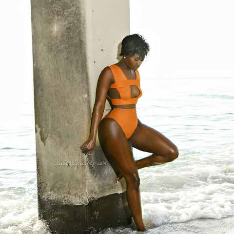 The Inferno Bandage Swimsuit (Desert Orange)
