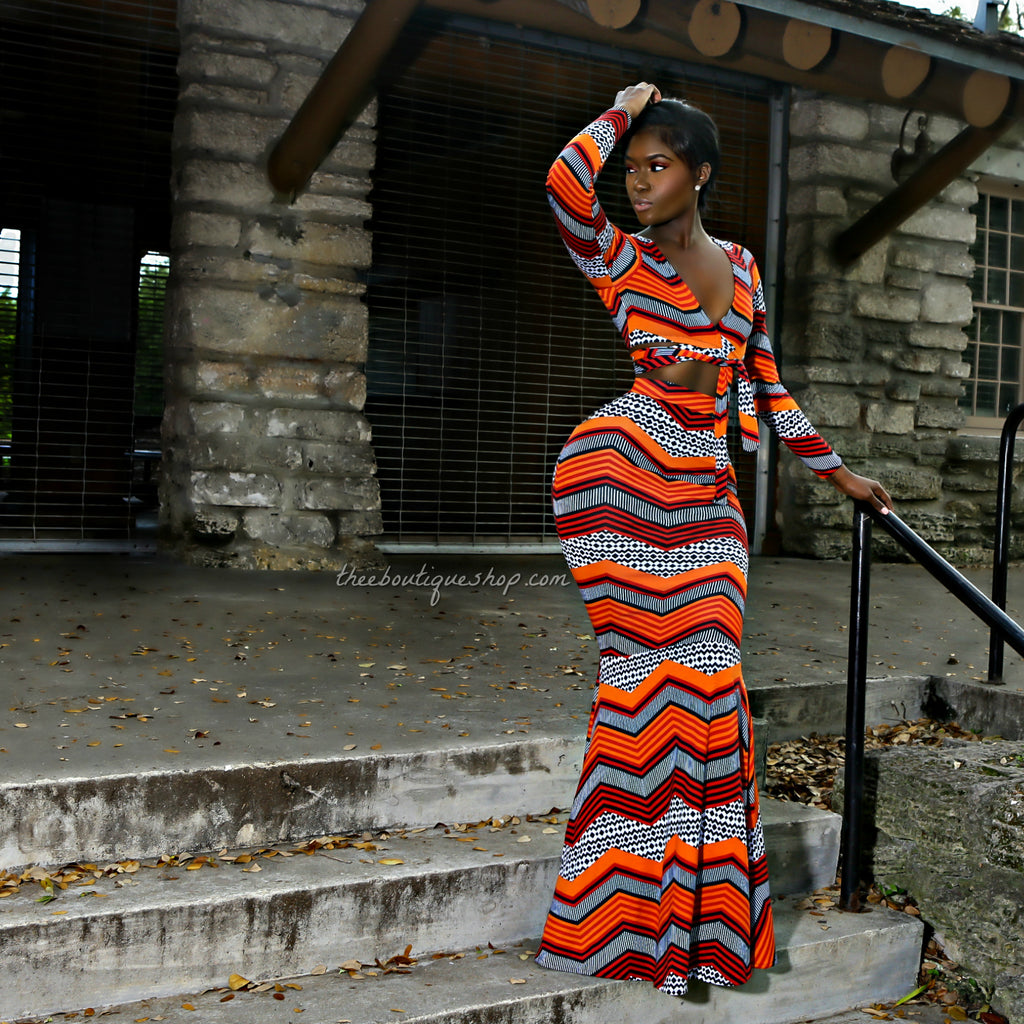 The Kente' Tribal Mermaid Wrap Set