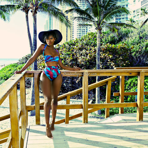 The Coastal Tropicana Wrap Swimsuit