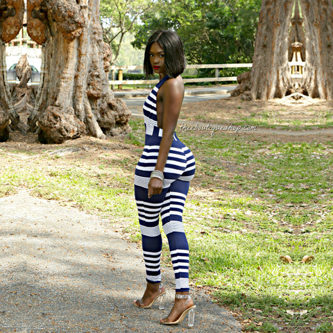 The Classic Nautical Halter Jumpsuit