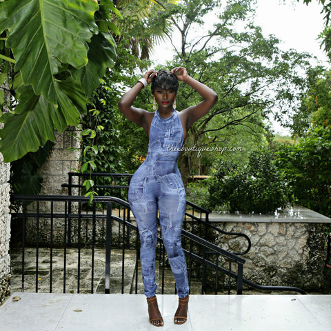 The Denim Belle Patchwork Jumpsuit