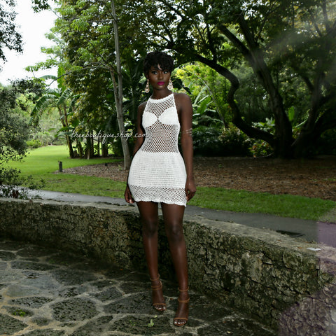 The Maldives Crochet Halter Dress