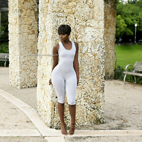 The Classic Summer Capri Jumpsuit (Grey)