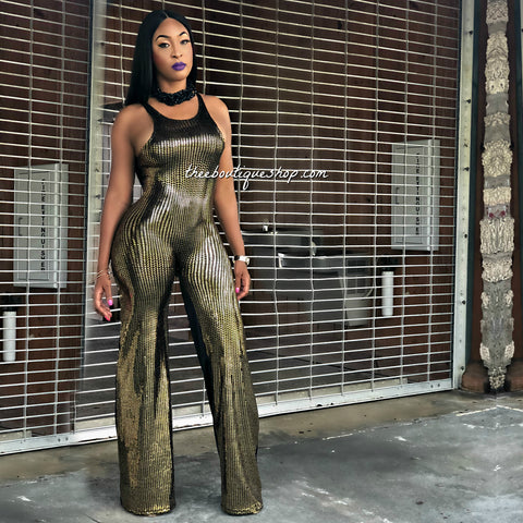 The Cairo Charleston Jumpsuit (Gold)