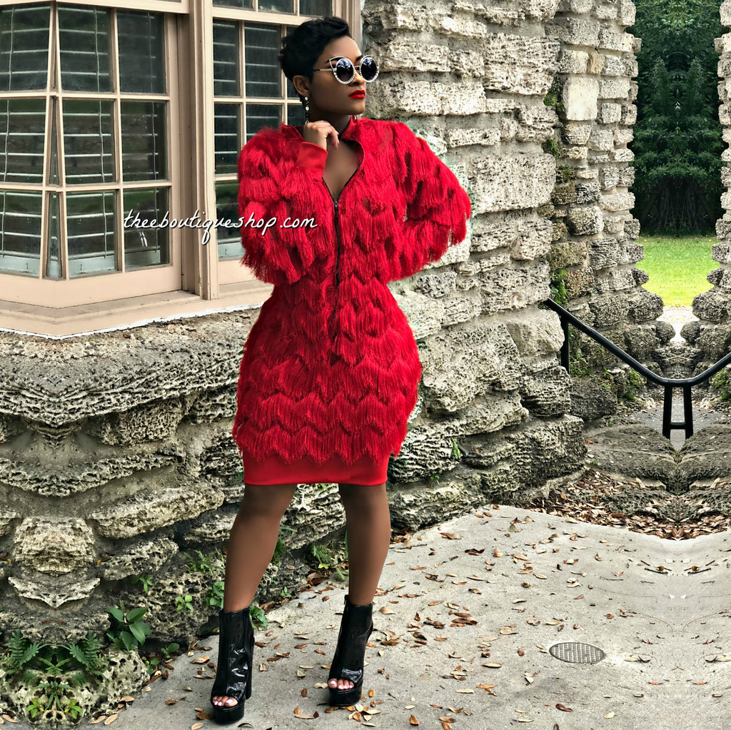 The Hollywood Shag Coat (Rouge)