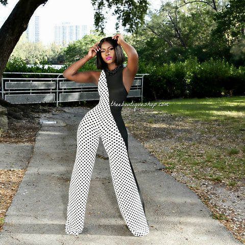 The Charleston Classic Harlequin Jumpsuit