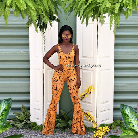 The Summer Splash Flare Jumpsuit
