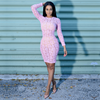 The Moulin Lace Dress (Baby Pink)