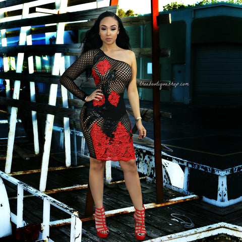 The Erotic Imperial Net Dress (Rouge)